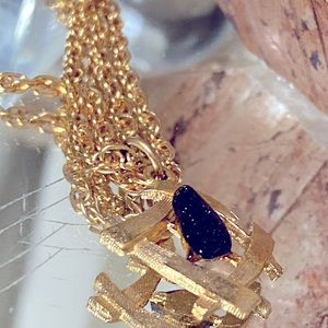 GORGEOUS! Rare Vintage Necklace with Gold Stone